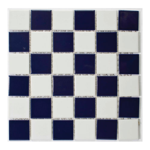 Fluidra WaterLinx CERAMIC MOS 447 BLUE - WHITE CHECKERBOARD DOUGLAS JONES